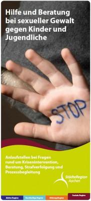 Flyer Hilfe bei sexueller Gewalt