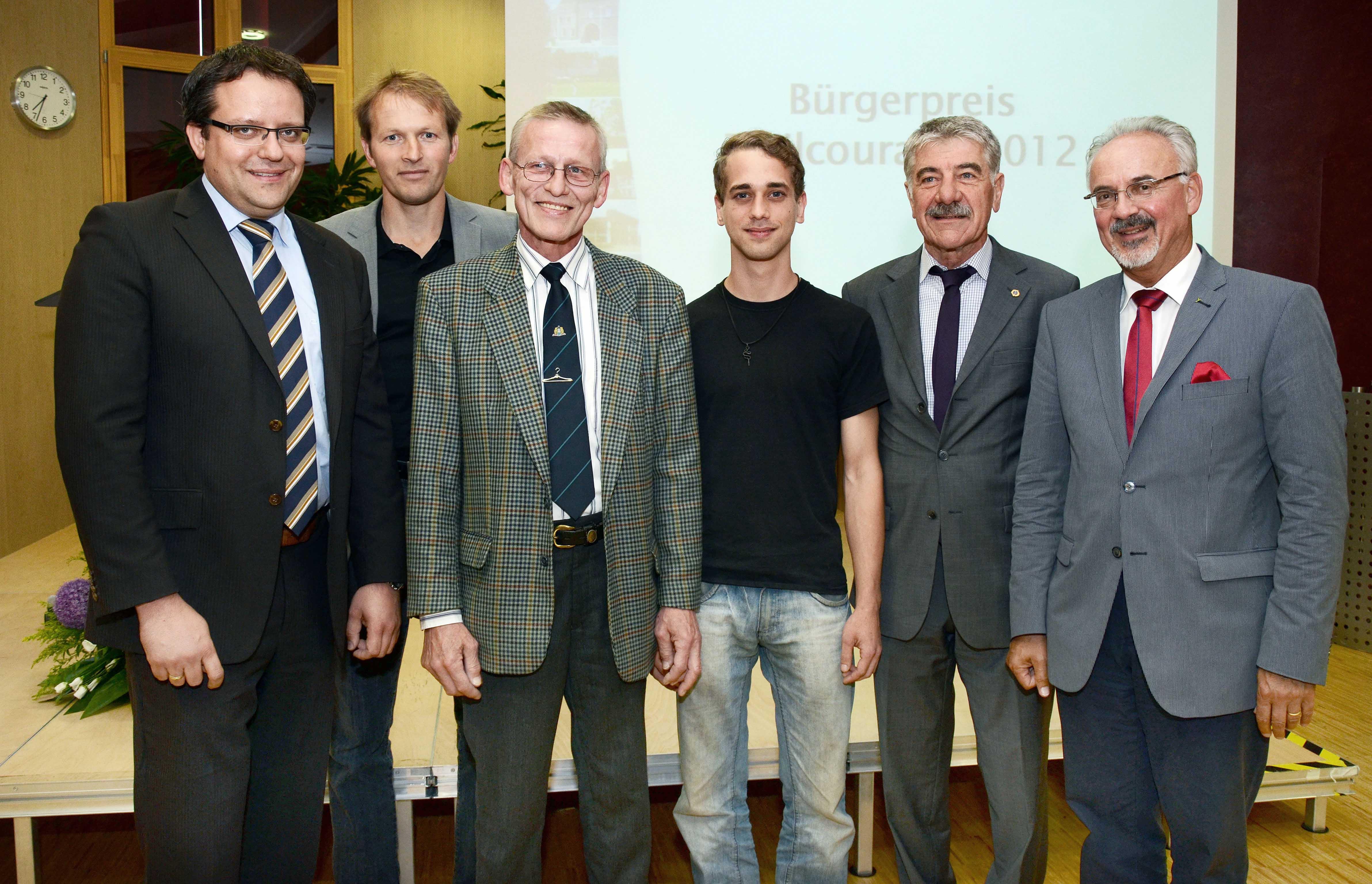 Preisträger Bürgerpreis Zivilcourage 2012