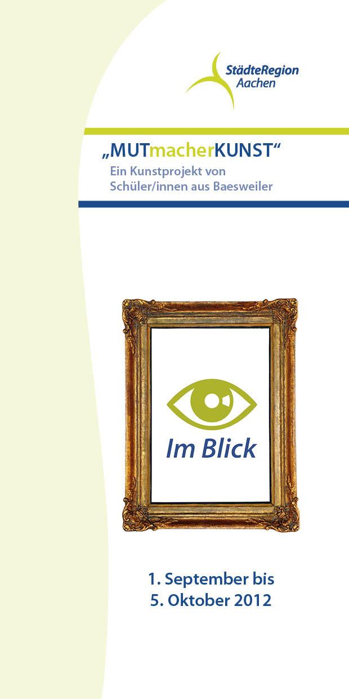 """Infoflyer zur Maßnahme """"MUTmacherKUNST"""""""